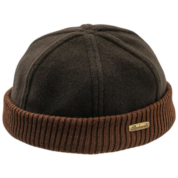 d2a94282 Docker style beanie cap Leon made of brown wool by HatterShop, $12.80