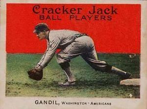 1915 Cracker Jack (E145) #39 Chick Gandil Front