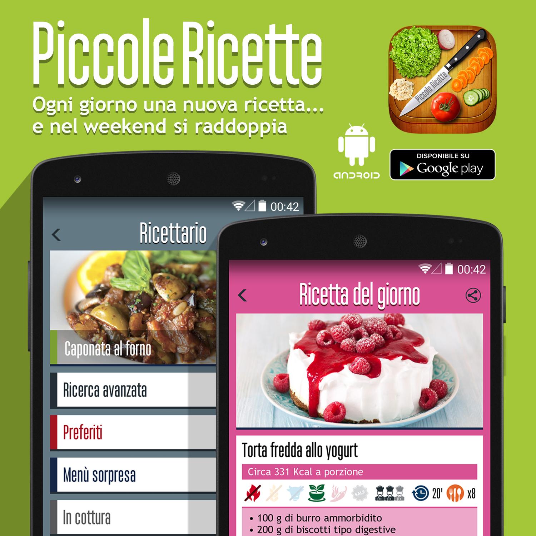 """Abbiamo finalmente una risposta alla ormai frequente domanda: """"Piccole Ricette c'è per Android?"""" Certo! ;D Ecco la prima vera versione di Piccole Ricette per Android!   https://play.google.com/store/apps/details?id=com.alternativeindustries.piccolericette"""