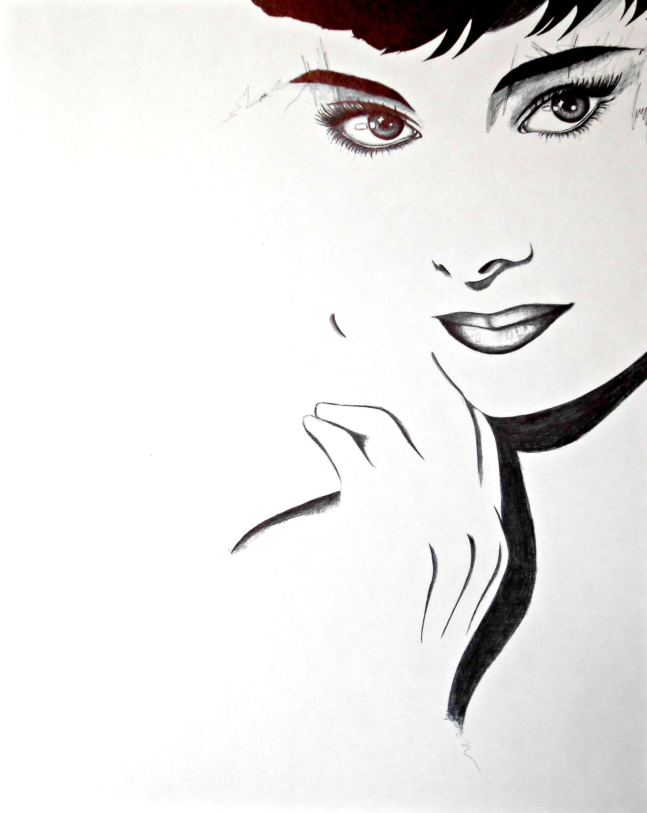 Audrey Hepburn Modern Art Full Length