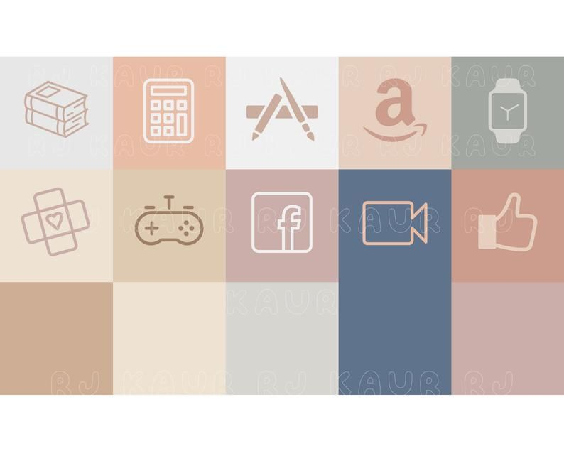 Give a personal touch to your iphone home screen! 50 Neutral iOS 14 App Icons   Aesthetic App Icons   iOS14 ...