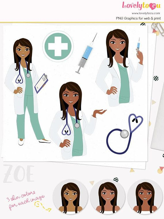 Woman Doctor Character Clipart Healthcare Illustration Etsy Clip Art Nurse Clip Art Female Doctor