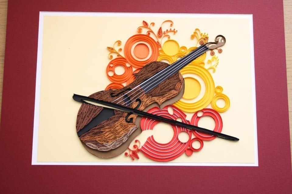 Открытка скрипка своими руками, книги
