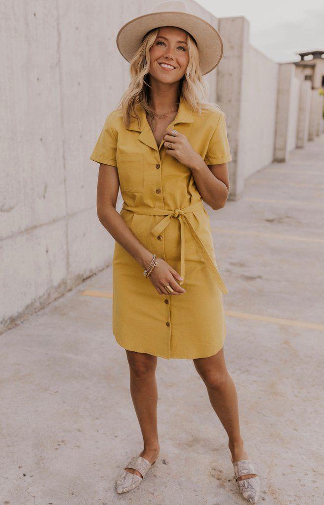 Cashel Button Dress