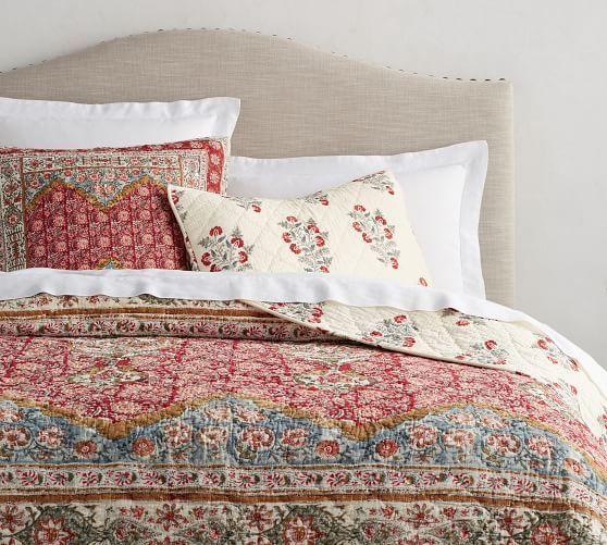 Pottery Barn Lightweight Quilts: Zarina Print Reversible Quilt & Sham