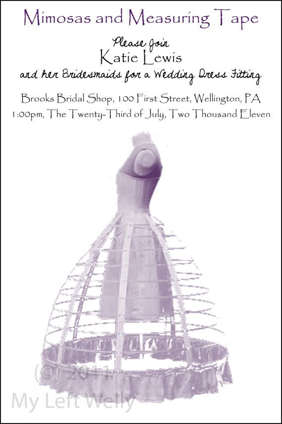 Mimosas And Measuring Tape Wedding Dress Fitting Invite Bridal Shower Mimosas Bridal Shower Bridal Shower Printables Vintage Bridal Shower