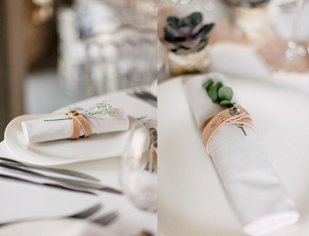 Diy Rond De Serviette diy mariage : des ronds de serviette en cuir | diy mariage