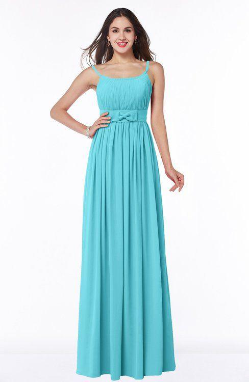 Modern A-line Spaghetti Sleeveless Chiffon Plus Size Bridesmaid Dresses