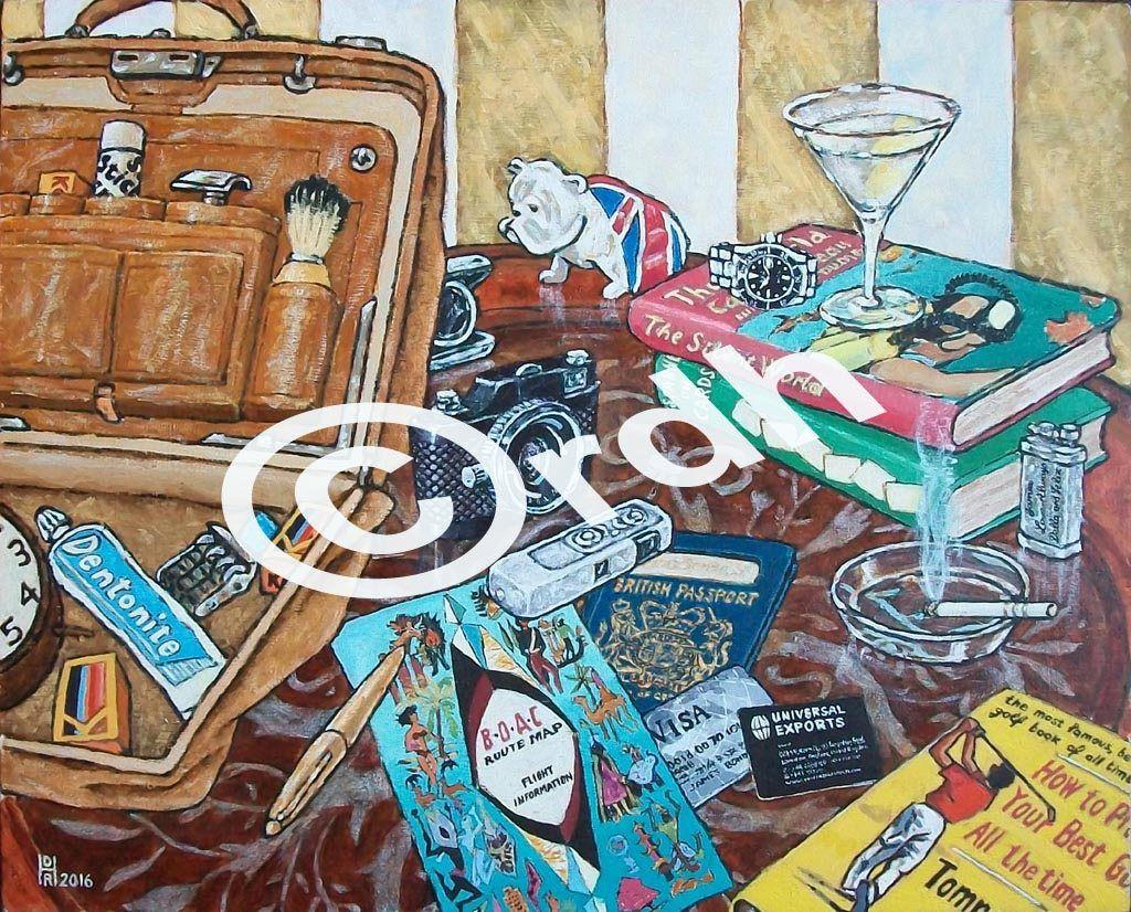 James Bond Q gadgets A4 artwork print by RichardDelaportHearn on Etsy