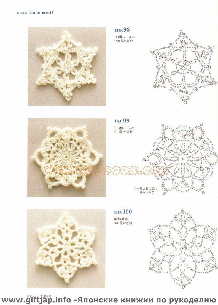 Crochet Snowflake Schneeflocke Fiocco Di Neve Pinterest
