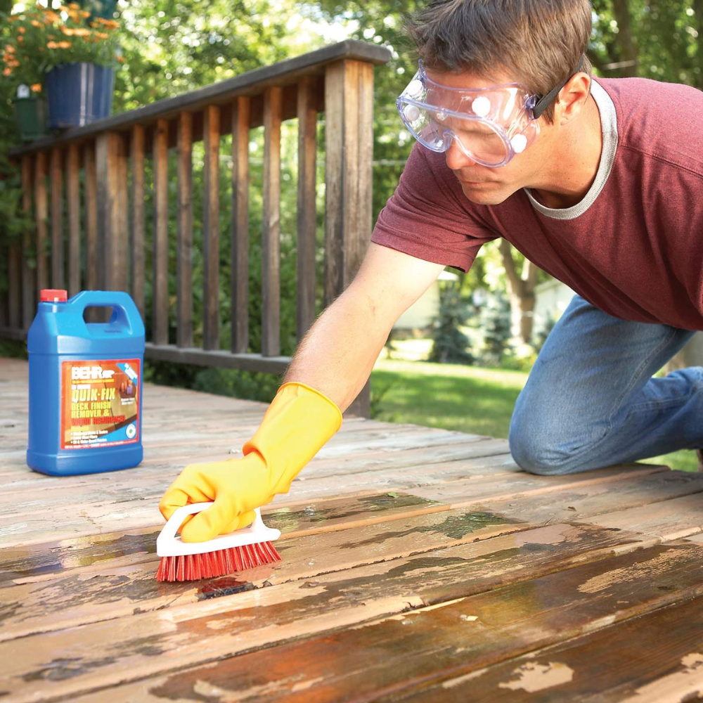 How To Remove Flaking Deck Stain Staining Deck Paint Remover Cleaning Hacks