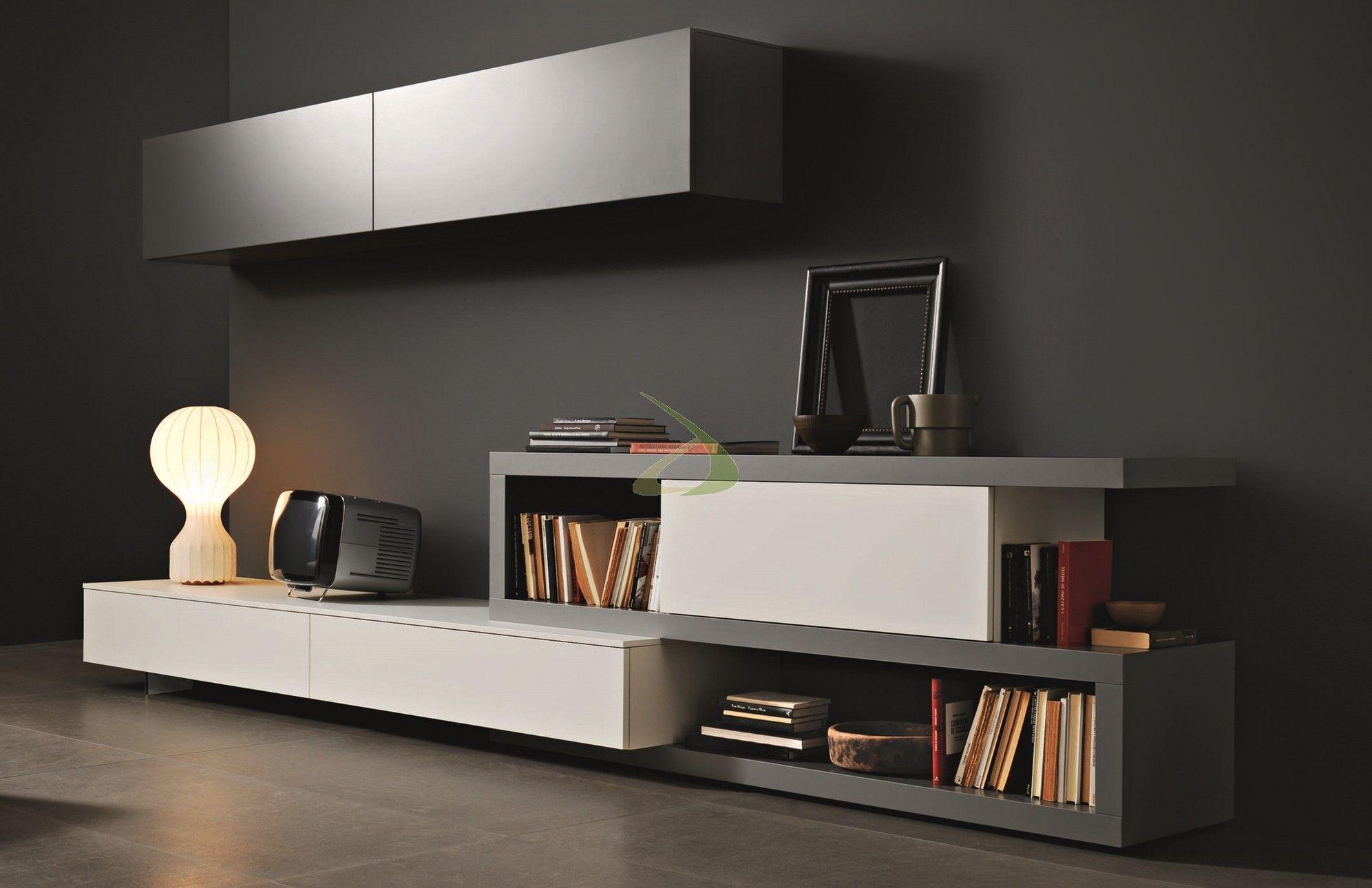 Soggiorno Sangiacomo ~ Disegno wall unit v by sangiacomo italy in grey oak veneer and