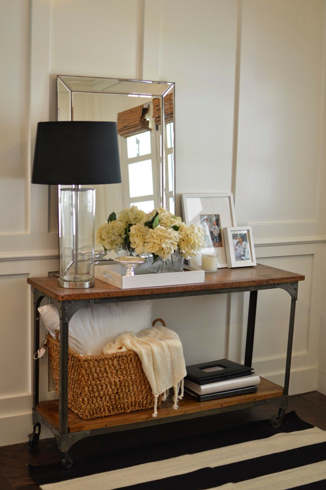 console table styling home living room