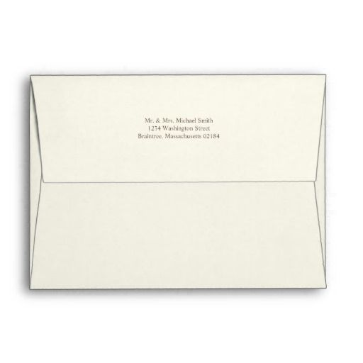 Ivory A7 Envelope 5x7 With Return Address