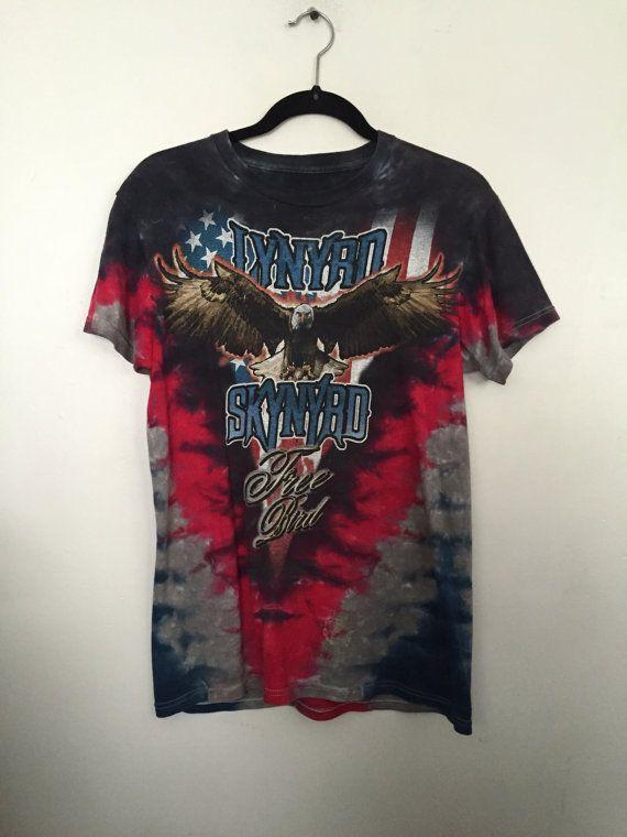 8acfa45b91f Lynyrd Skynyrd shirt vintage t shirt 90s band t-shirts free bird ...