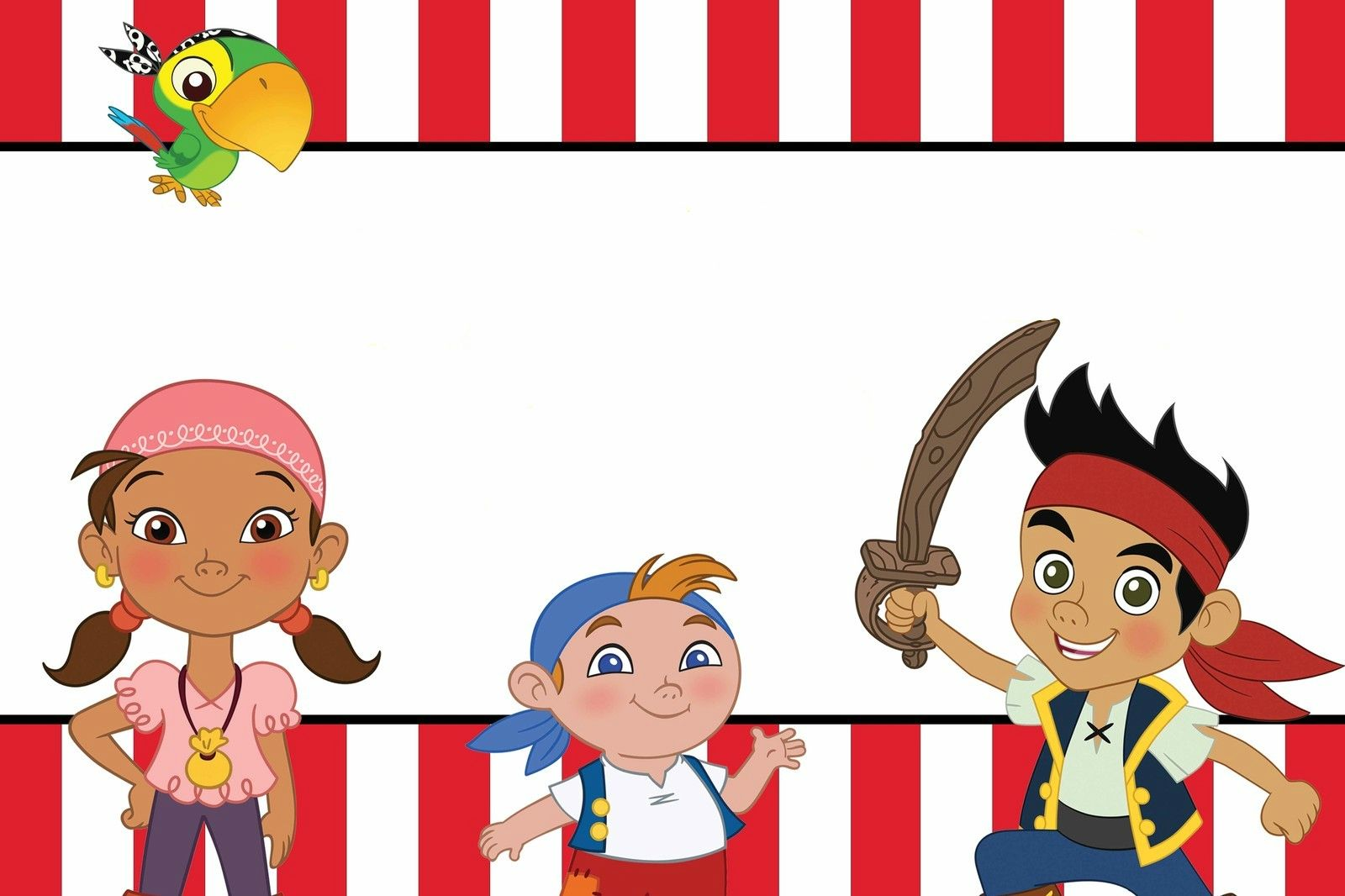 Add your own text for Jake & the Neverland Pirates Birthday Party ...