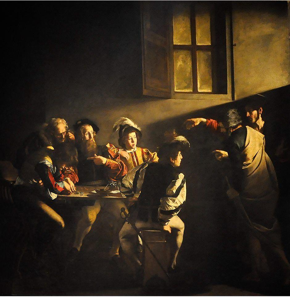 Le Caravage, La Vocation de saint Matthieu, 1599-1600 ...