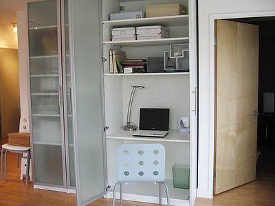 Pax Wardrobes To Organise Your Entire Office Condo Interior Design Black Office Furniture Condo Interior