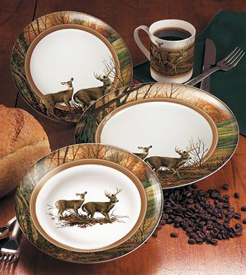 INDIAN SUMMER DINNERWARE ~ Image by Terry Redlin This elegant ...