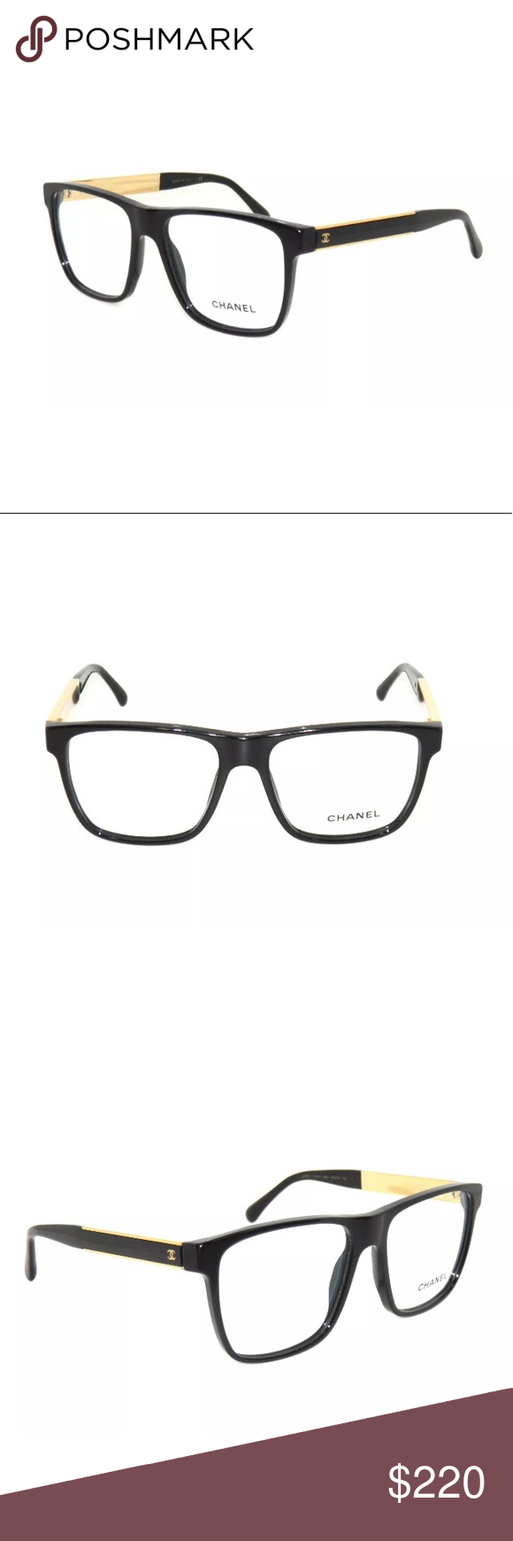2d77aa52b4977 Chanel 3276 Eyeglasses Black And Gold Frame 55mm Excellent Condition ...