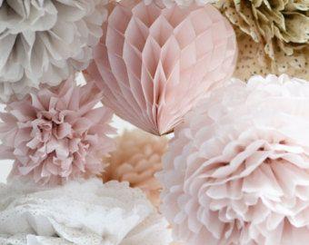 24 Grosse Gewebe Papr Pom Poms Multi Colors Dekorationen Party Geburtstag Blumen Aus Papier Papier Pompons
