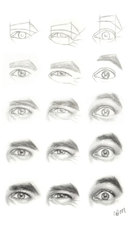 Drawing tutorial eyes anterior view