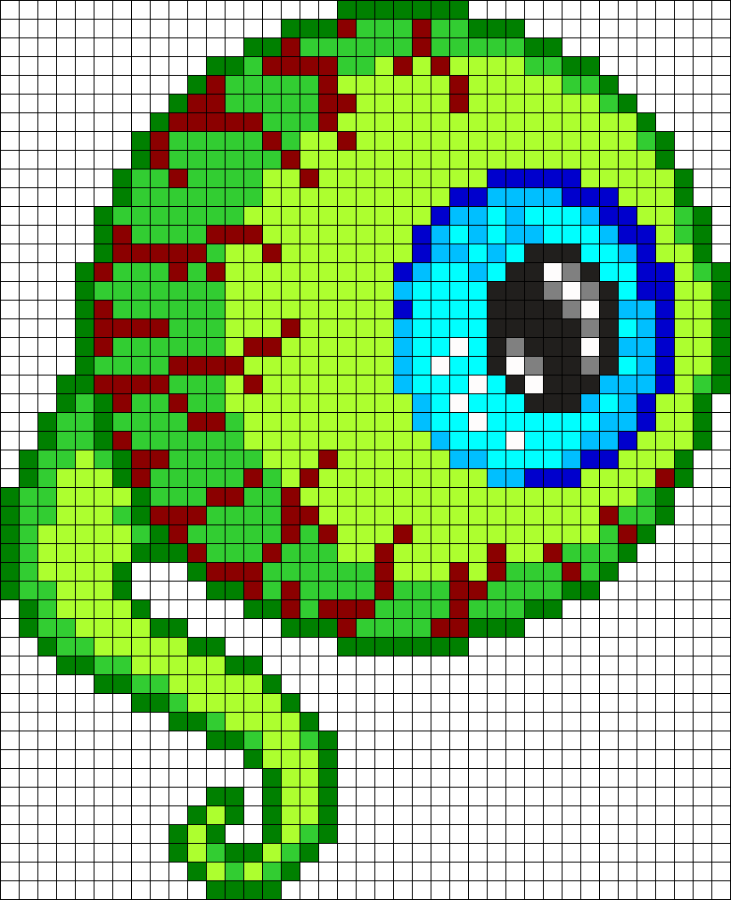 Tentacle Eye Perler Bead Pattern Bead Sprite Minecraft Pixel Art Grid Maker Anime Ideas Easy Templates Har Pixel Art Grid Easy Pixel Art Pixel Art Templates