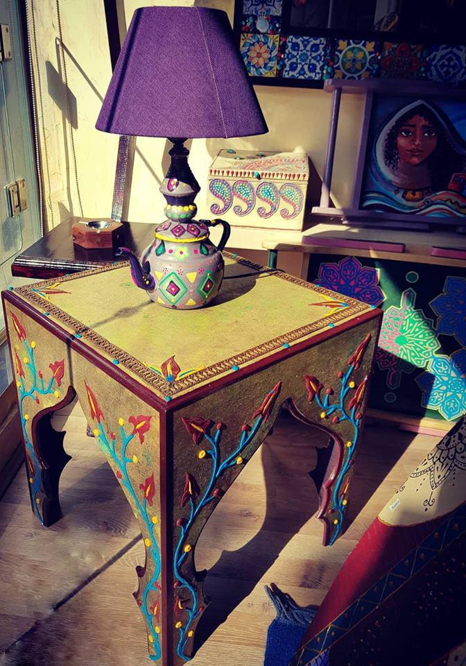 أباجورة أبريق الشاي Decor Lamp Shade Entryway Tables