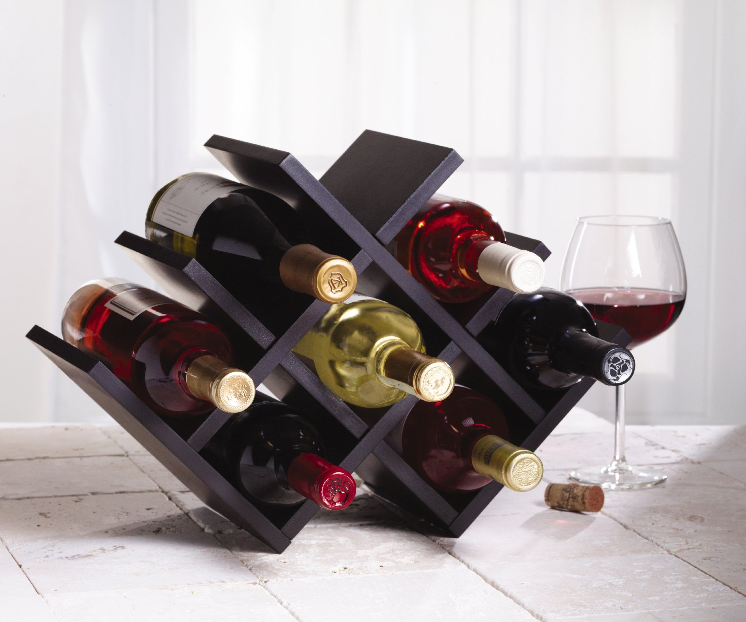 Amazon Com Kamenstein Butterfly Wine Rack Kitchen Dining