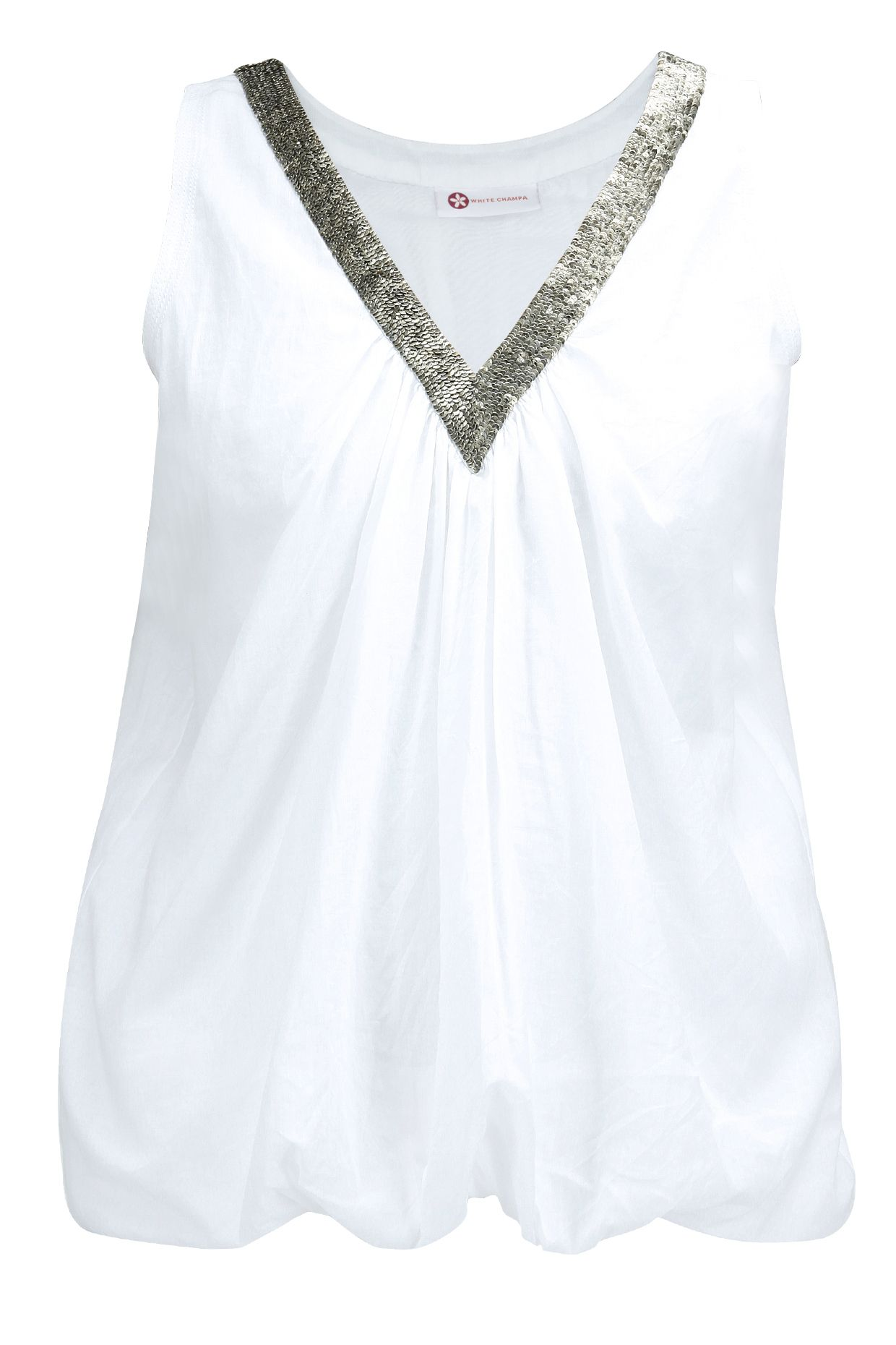 White embroidered bubble top BY WHITE CHAMPA. Shop now at: www.perniaspopups... #perniaspopupshop #whitechampa #eclectic #contemporary #designer #quirky #fun #love #fashion #gorgeous #newdesigner #update #musthave #happyshopping