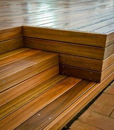 Recessed Deck Stairs Deck Steps Decks Backyard Decks And Porches