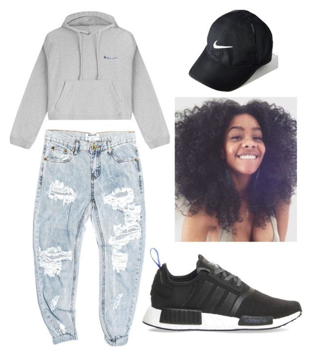 """""""I'm tired boss """" by brejeasmith on Polyvore featuring OneTeaspoon, Vetements, adidas and NIKE"""
