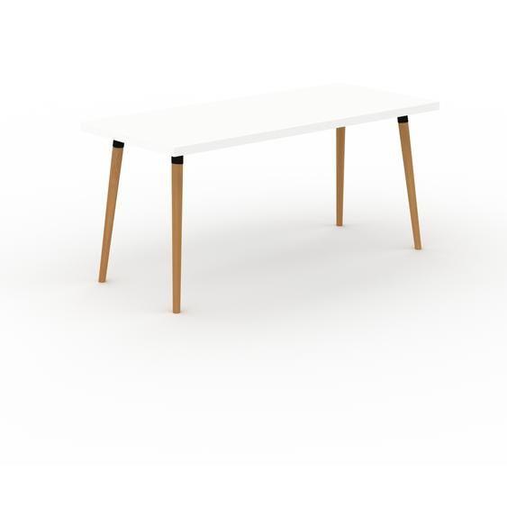 Designer Esstisch Massivholz Weiß - Individueller Designer-Massivholztisch: Einzigartiges Design - 160 x 75 x 70 cm, Modular