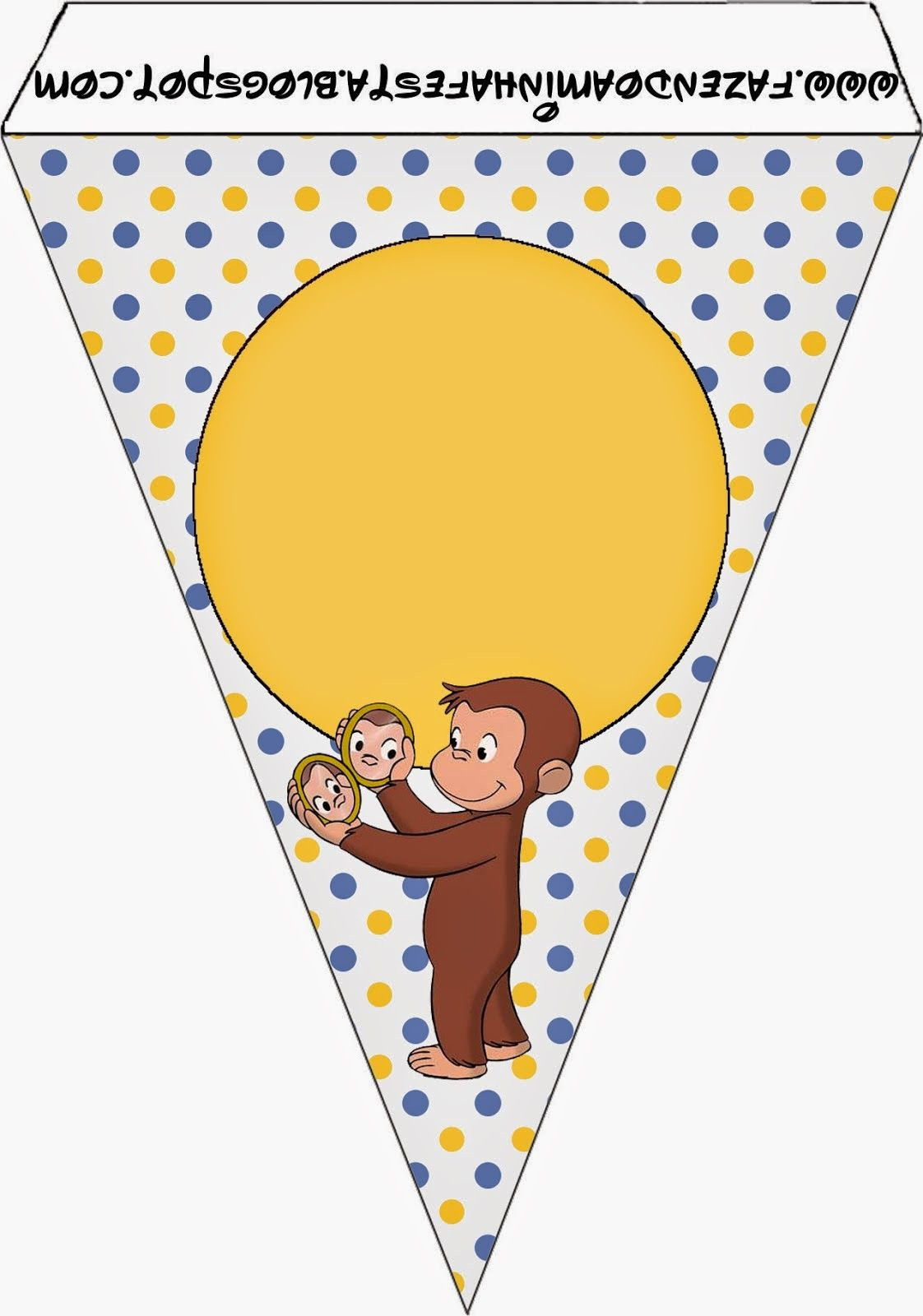 Curious George Free Party Printables. Banner | Coles first birthday ...