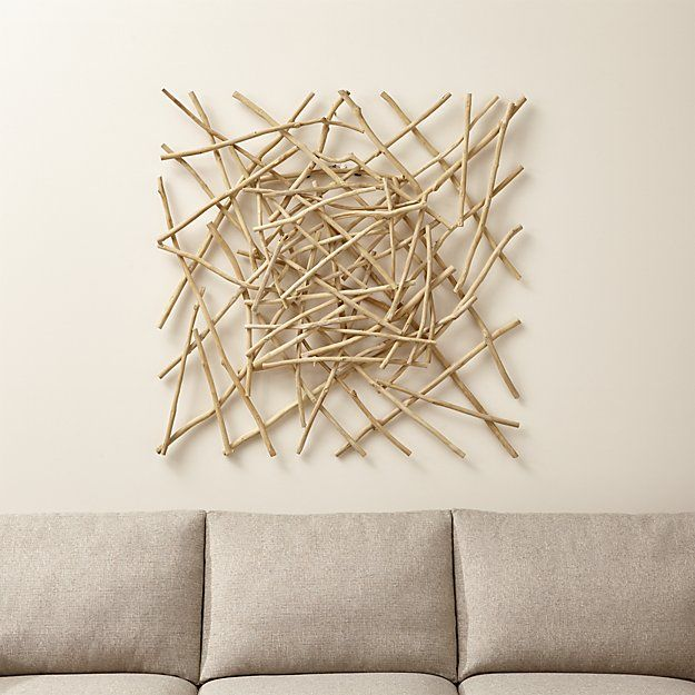Crate And Barrel Wall Art Part - 17: Wall decor for Living Room - Sticks Wood Wall Art   Crate and Barrel