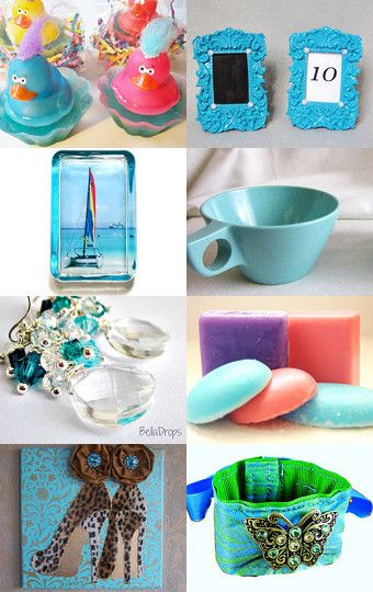 Bonnie Blue Baubles by Patricia and Rebecca on Etsy--Pinned with TreasuryPin.com