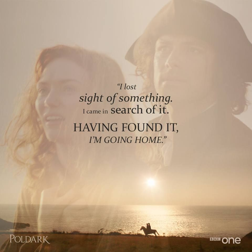 """""""I lost sight of something. I came in search of it. Having found it, I'm going home."""""""