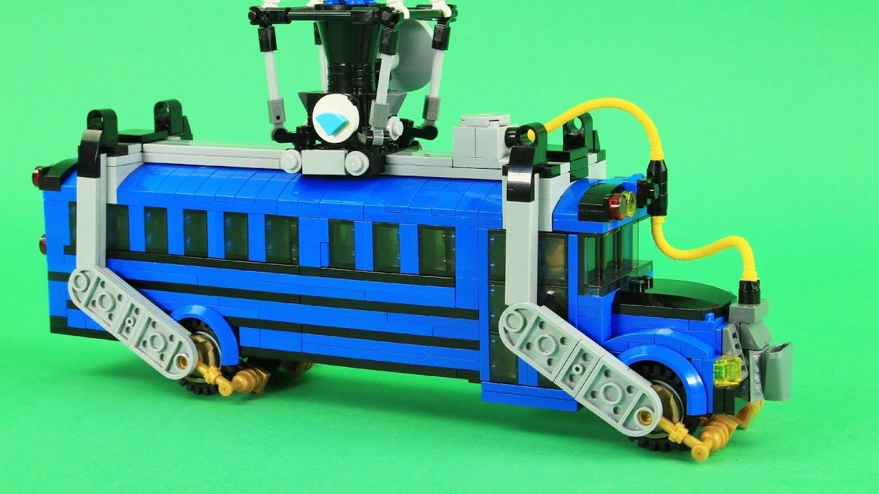 Lego Fortnite Battle Bus Custom Fortnite Battle Royale Lego Moc