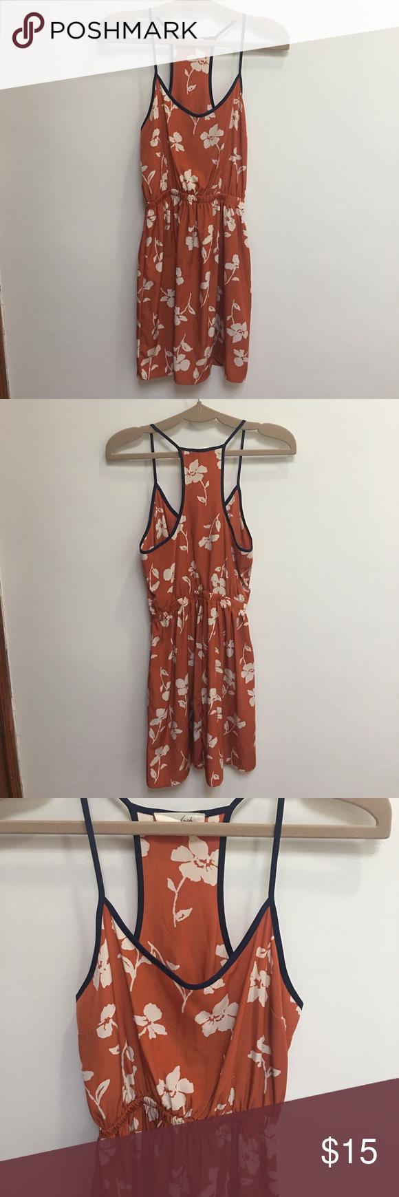 Orange Flowered Dress Orange Flowered Dress from Nordstrom Rack Lush Dresses Mini
