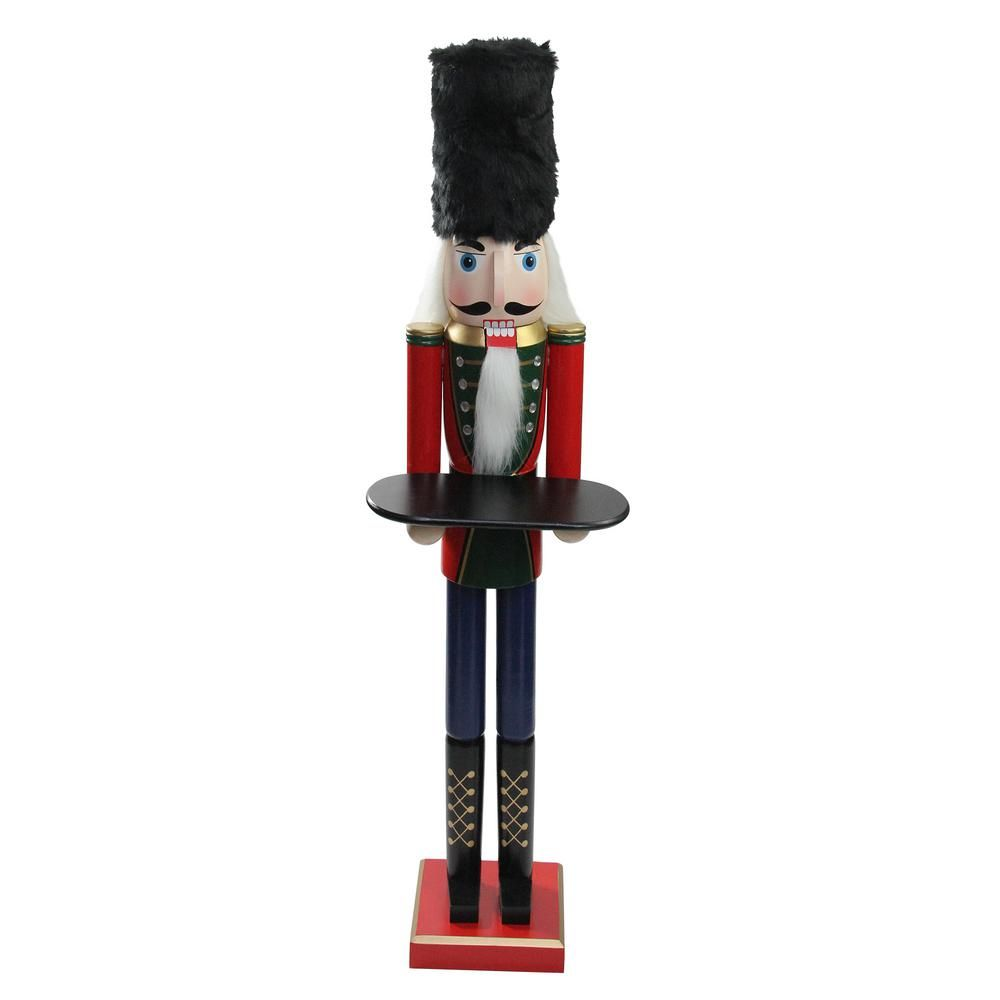 Nutcrackers are said to represent power and strength and serves like a trusty watchdog guarding your family against evil spirits and danger. A fierce protector the nutcracker bares its teeth to the evil spirits and serves as the traditional messenger of good luck and goodwill. Wearing a traditional red green and blue uniform with jeweled accents this guy is a unique but festive touch to your Christmas or home decor with this rustic Santa figure. Product Features: Traditional standing nutcracker.
