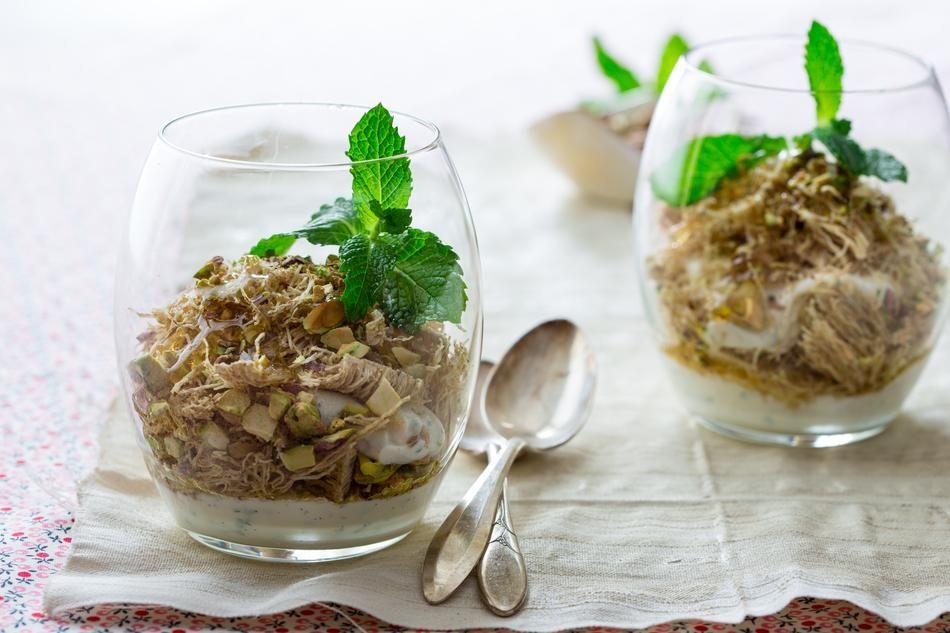 Baklava breakfast parfait recipe food recipes parfait