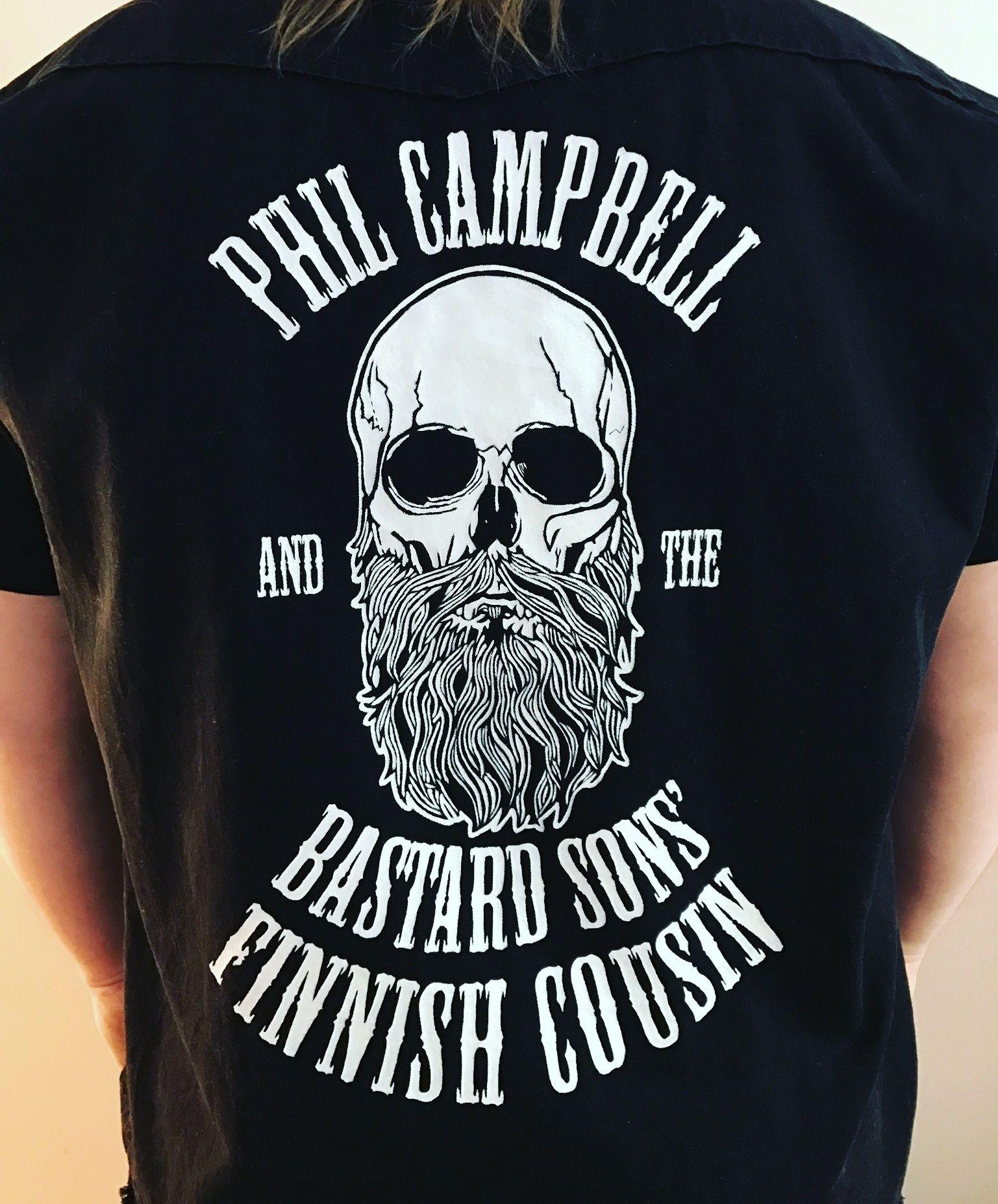 551ae33f0384e Hand painted personalized vest. Orders are welcome. #philcampbell  #philcampbellandthebastardsons #motorheadbangers #motörheadbangers #denim  #denimjacket ...