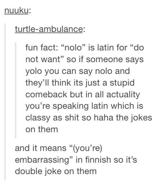 Nolo vs yolo random and bizarre pinterest yolo text posts and nolo vs yolo solutioingenieria Choice Image