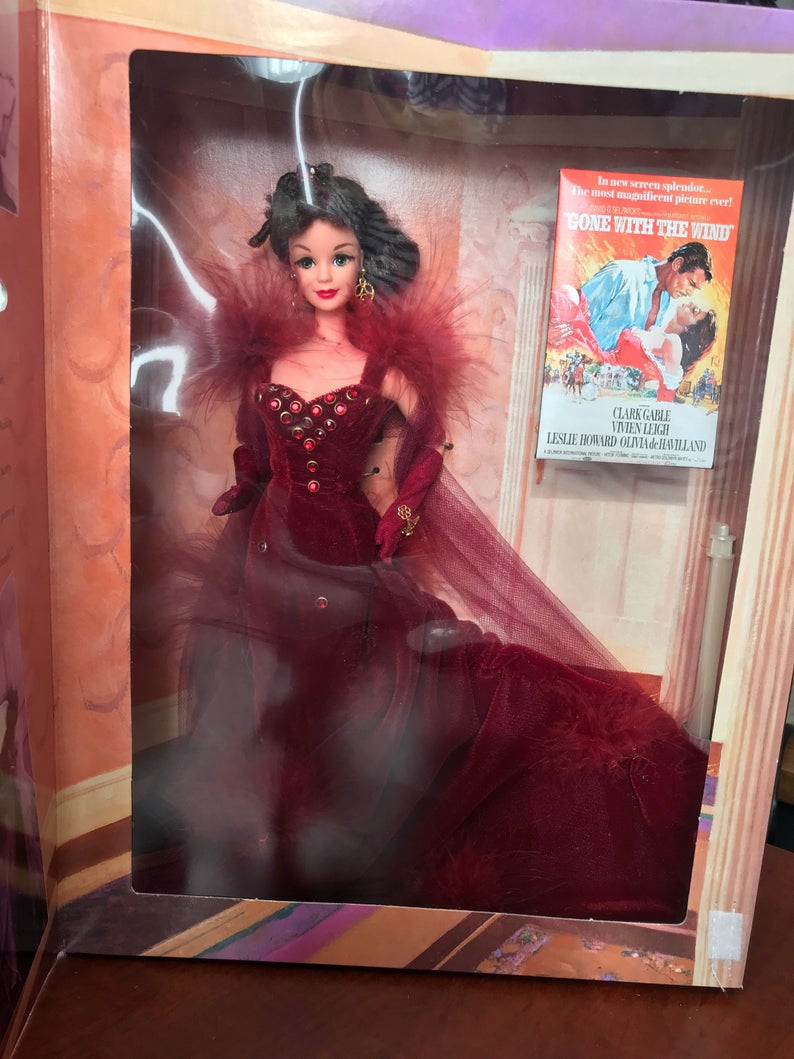 Scarlett 0'Hara Hollywood Legends Collectible Barbie Doll Mattel 1994 Gone with the Wind #hollywoodlegends