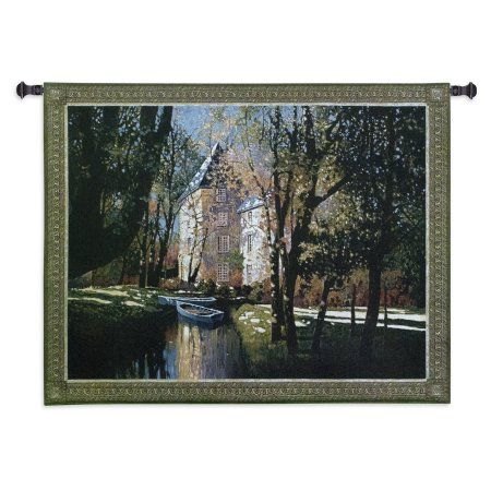 FineArtTapestries 2706-WH Chateau DAnnecy Wall Tapestry, Black