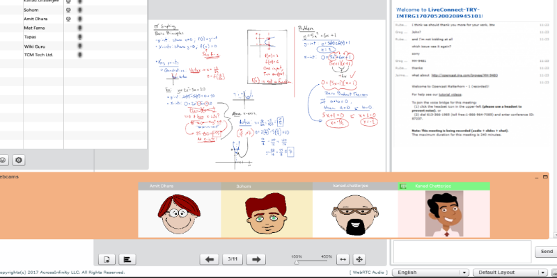 Virtual classroom function at Learnmet Virtual