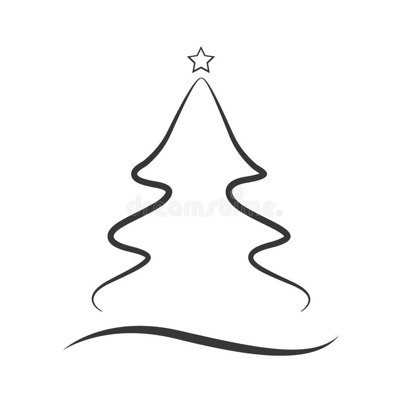 Christmas Tree Icon On A White Background Simple Line Style Design Vector Illu Sponsored Affiliate Ad Icon In 2020 Tree Icon Simple Lines White Background