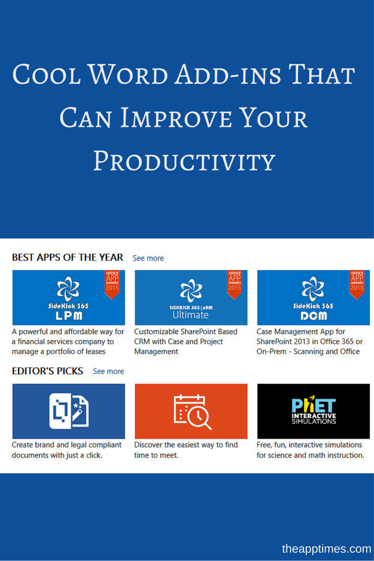 Cool Word Add-ins That Can Improve Your Productivity