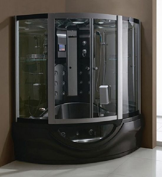 Wellgemsu0027 Steam Shower Is The Ultimate Steam Room  With The Looks To Match.  This Uber Sauna Comes With 12 Back Jets, A 19 Hydrojet Whirlpool, Radio.