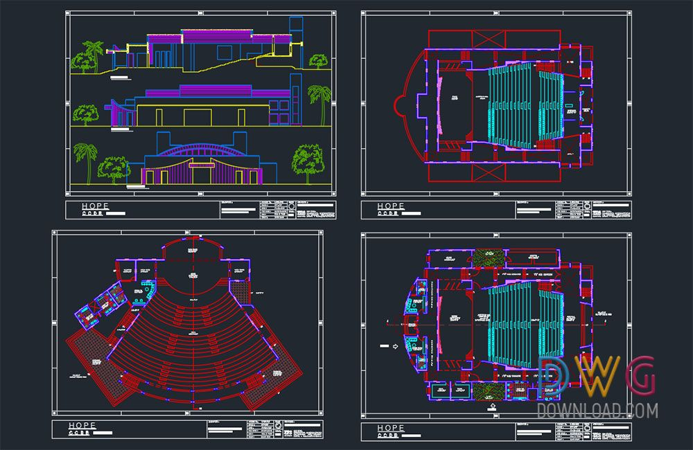 Dwg Download Auditorium Dwg Project Architectural